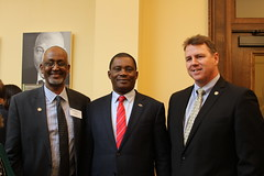 Sen. Nick Frentz with the Speaker of the National Assembly of Kenya