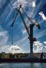 Gdansk, Polen (Vest der ute) Tags: xt2 sky clouds crane sea buildings bluesky water seaside