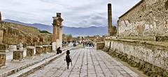 The Lone Explorer (somabiswas) Tags: pompei ruins italy landscape mountains sky clouds ancient civilization