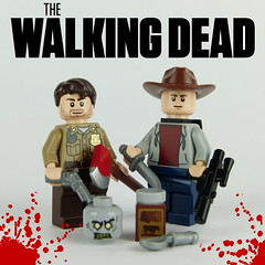 Rick Grimes Carl Grimes (Janultra) Tags: lego walking dead zombie rick grimes zombies moc bricks afol blocks comic undead walkers vignette carl post apoc character remake drama series toys toy television trigger custom customs minifigures minifigure chocolate pudding axe rifle hunting knife revolver sheriff