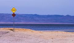 Please Say It's Not An Omen (Chuck Holland) Tags: saltonsea ca california desert saltoncity end accident environmental disaster beach sand decay signpost