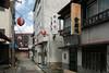 sushi and lantern alley (kasa51) Tags: alley sushirestaurant lantern sign gekkoji yamanashi japan 月江寺 寿司 提灯