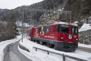 CH RhB  629 Tiefencastel 12-02-2018