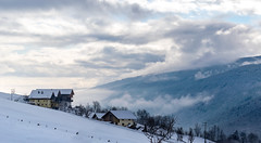 Lovely Mountain View (1durch0) Tags: berg fogg house italien italy jochtal meransen mountain nebel schnee ski snow snowboard südtirol tirol landscape nature composition white forest