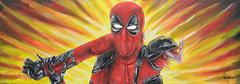 Deadpool Never Unarmed! (RedRoofArt) Tags: deadpool marvel xmen fantasy scify painting acryl canvas fanart explosion