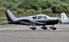 G-AVBG (goweravig) Tags: gavbg piper cherokee visiting aircraft swansea wales uk swanseaairport