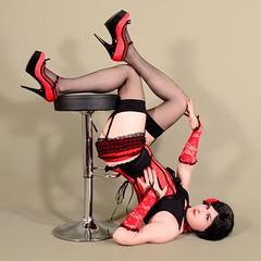 133X3L (klarissakrass) Tags: stockings heels highheels pleaser nylons legfashion sexylegs sexydress gloves crossdress transgender gurl flexypose pantie corsage bourlesque pinup pose