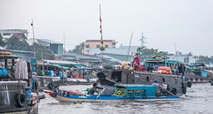 Busy Market: Can Tho floating market, Vietnam (E.K.111) Tags: cantho cầnthơ vietnam vn boats markets people peopleallovertheworld river water candid eastasia