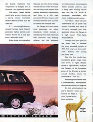 1992 Toyota Tarago 7 Or 8 Seat Van Page 2 Aussie Original Magazine Advertisement (Darren Marlow) Tags: 1 2 7 8 9 19 92 1992 toyota t tarago s w seat wagon v van c car collectible collectors classic a automobile vehicle j jap japan japanese 90s