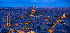 montparnasse view (Benoit photography) Tags: 2018 beautiful city urban photographer photography photograph images pictures photos fotos bild street lightroom canon 6d photoshop benoitphotography eiffel tower night blue hour place montparnasse view