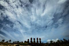 Anakena (Rodney Harvey) Tags: anakena easter island rapa nui chile statues moai ahu remote isolation sky