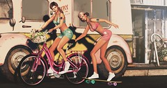 ♥ Happy Friends (Quistis Shippe) Tags: bestfriends angel sport secondlife skateboard bicycle