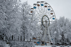 Winter morning in the park. Ferris wheel in winter. Consequences of snow (ivan_volchek) Tags: winter snow cold wheel tree landscape sky park nature forest ferris frost blue ice city white mountain trees season snowy austria view vienna ride amusement outdoors wood weather frozen branch travel visiting light christma