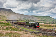 Cumbrian Mountain Express (Articdriver) Tags: bulleid pacific merchantnavy 35018 railways train cumbrianmountainexpress aisgill settlecarlisle cumbria britishindialine westcoast fells steam locomotive