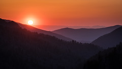 Morton Overlook (Jeremy Duguid) Tags: great smoky mountain national park travel nature sunset dusk evening tennesee north carolina southeast southeastern usa smokies southern south sony jeremy duguid landscape landscapes sun mountains valley blue ridge