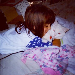 Janette Hugs Spirit (booboo_babies) Tags: cat daughter girl whitecat tbt love hug cute 1990s throwbackthursday