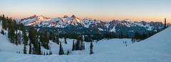 Tatoosh panorama (Laura Jacobsen) Tags: camping mtrainier mtrainiernationalpark nationalparks paradise rainier snow washington