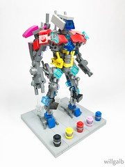The Megazord (willgalb) Tags: brickfest japan figure toy tvshow reboot movie dinozord megazord daizyujin supersentai zyuranger powerrangers model moc lego