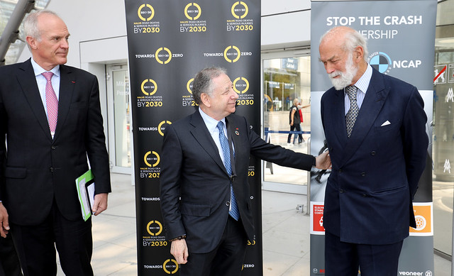 Jean Todt addressing HRH Prince Michael of Kent
