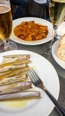 Razor clams (jbdodane) Tags: barcelona citycenter clam europe food ramblas razorclam shells spain