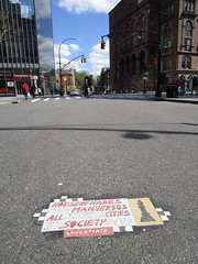 Checkmate House of Hades Toynbee Tile Astor Place 0752 (Brechtbug) Tags: chess man bishop house hades toynbee tile astor place intersection new york city one versus all principal cities society 2017 checkmate art artist mosaic parts part jumbled black top asfalt 04292018 nyc smoker toynbees tiles location located piece forth avenue downtown