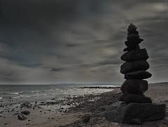Dark clouds, rain, cold and storm - that's how the 1st of May greeted us  😀😀 (Ostseeleuchte) Tags: 1mai 1stmay clouds wolken grauerhimmel kälte regen sturm ostsee balticsea sierksdorf strand beach