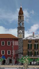 Modello LEGO Lungolago Ascona (Enea Moro) Tags: lego ascona brick ticino ticinobrick