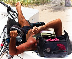 Asleep on beach (LarryJay99 ) Tags: 2018 beach streets people ftlauderdale ocean atlanticocean bikes bicycle men male man guy guys dude dudes manly virile studly stud masculine sexyman shirtless hairy hairyman peekingnipples peekingpits nipples sleeping hotguys candid unsuspecting spyman unaware bulge bulging