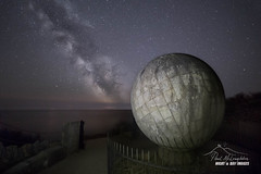 World Within Worlds (macdad1948) Tags: swanage milkyway durlstoncountrypark dawn durlston anvilpoint dorset portland stars sea astro coast galaxy widefieldastrophotography globe portlandstone