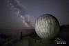 World Within Worlds (macdad1948) Tags: swanage milkyway durlstoncountrypark dawn durlston anvilpoint dorset portland stars sea astro coast galaxy widefieldastrophotography globe portlandstone
