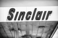 Sinclair (Thomas Hawk) Tags: america glendo sinclair sinclairgas usa unitedstatesofamerica unitedstates wyoming bw gasstation us fav10