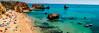 Beach Day (IRRphotography) Tags: rocks beach ocean portugal lagos cliffs atlantic travel tourist boats
