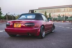 IMG_4527 (tom_acton) Tags: mazda mx5 eunos roadster red sparkle 3m cinder fifteen52 formula tr low sportscar jdm japanese sunset