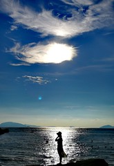 Fair lady (MelindaChan ^..^) Tags: zhuhai china 珠海 外伶仃島 chanmelmel mel melinda melindachan island sea blue water fine weather