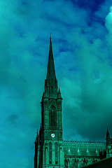 Steeple St. Colman's Cathedral (Ronny Darko) Tags: church steeple tower turm kirche ireland irland cityscape sightseeing sky dramatic blue