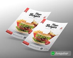 Burger Flyer (waqutiar) Tags: flyer