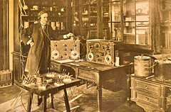 Jame H. Rogers of Hyatsville, MD. noted radio inventor with his underwater wireless system 1918 NARA165-WW-511A-004 (SSAVE over 11 MILLION views THX) Tags: ww1 worldwari signalcorps usarmy 1918 communications radio tacticalradio wireless