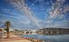 (229/18) Cielo empedrado (Pablo Arias) Tags: pabloarias photoshop photomatix capturenxd españa cielo nubes arquitectura mar agua mediterráneo señal puerto barcos botes fornells menorca