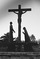 R2-051-24 by David Swift Photography Thanks for 10 million view - Sculpture/Shrine.Holy Sepulchre Cemetery.Cheltenham Township Pa-35mm Nikon FM2,Ilford XP2