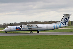 G-JECO DHC-8Q 402 Flybe MAN 18-04-18 (PlanecrazyUK) Tags: egcc manchester man ringway manchesterairport gjeco dhc8q402 flybe 180418