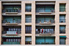 L'homme au peignoir (Didier ANDRAU) Tags: fujifilm superia analog argentique peignoir bathrobe yashica electro colors red building immeuble fenêtres windows