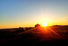 An Okie Kinda Sunset.. (lillypotpie) Tags: oklahoma rural sunset barn field
