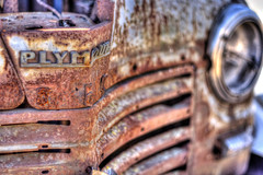 1946 Plymouth De Luxe (Arranion) Tags: plymouth deluxe motoring auto automobile wreck car old vintage 1946 grill war canon eos 40d 50mm f18 rust rusty