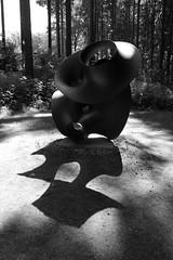 IMG_3662bw Irruption by Tony Cragg (marklarmuseau) Tags: irruption tonycragg skulpturenpark sculpturepark villawaldfrieden tonycraggfoundation wuppertal germany