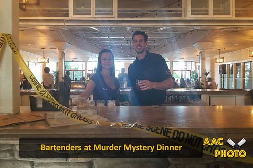 """Bartenders at Murder Mystery Dinner • <a style=""""font-size:0.8em;"""" href=""""http://www.flickr.com/photos/159796538@N03/41125800695/"""" target=""""_blank"""">View on Flickr</a>"""