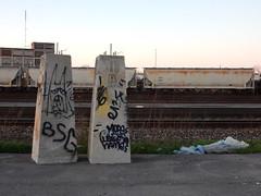 Slabs/Train (aestheticsofcrisis) Tags: street art urban intervention streetart urbanart guerillaart graffiti postgraffiti rochester new york ny us usa