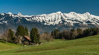 La ferme et les préalpes (Switzerland)