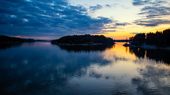 Calm straits (Joni Mansikka) Tags: nature spring outdoor sea straits reflections woodland silhouettes sunset colours sky clouds landscape piikkiö suomi finland efm1855mmf3556isstm