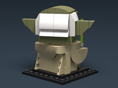 Yoda BrickHeadz MOC (headzsets) Tags: lego photography moc star wars mocs brickhead brickheadz yoda jedi toys figures lightsaber empire strikes back return revenge sith