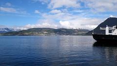 Volda -|- Village over fjord (erlingsi) Tags: no volda village sea fjord noreg ferry fjorden paysage folkestad
